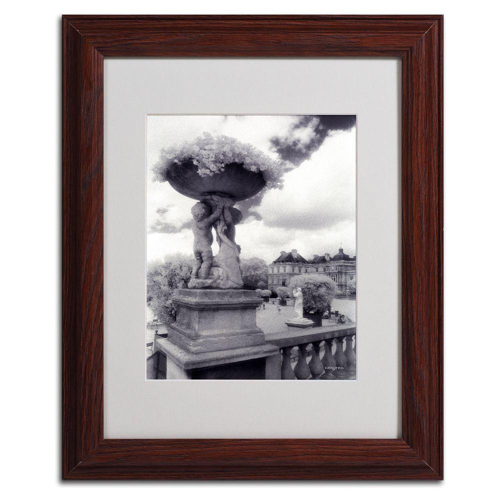 11 in. x 14 in. Jardin Du Luxembourg Matted Framed Art