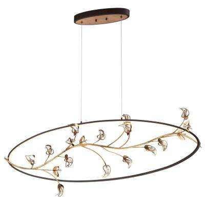 Peralta Collection 60-Watt Gold Integrated LED Chandelier