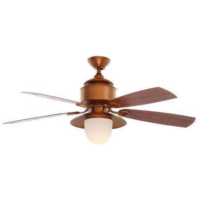 Copperhead 52 in. Indoor/Outdoor Weathered Copper Ceiling Fan with Light Kit and Wall Control