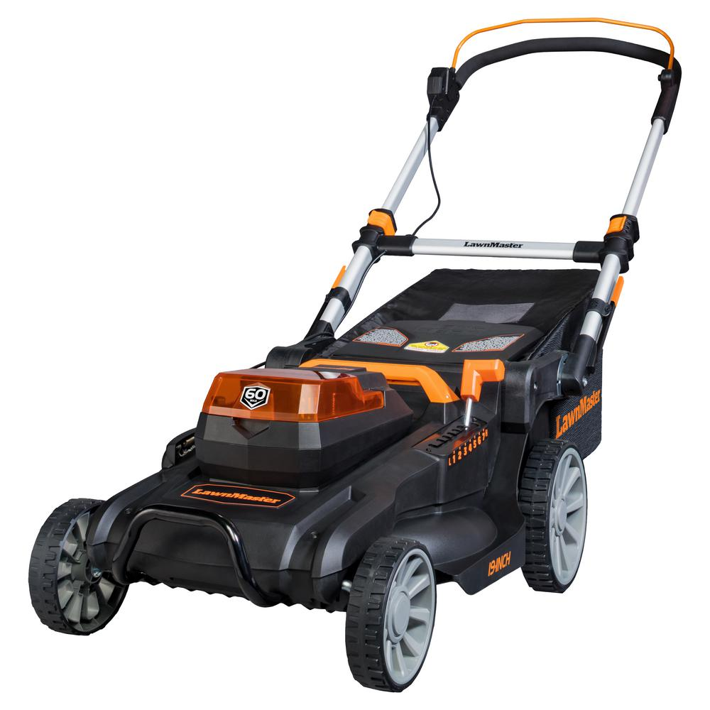 19 in. 60-Volt Brushless Lithium-Ion Cordless Battery Walk Behind Push Mower