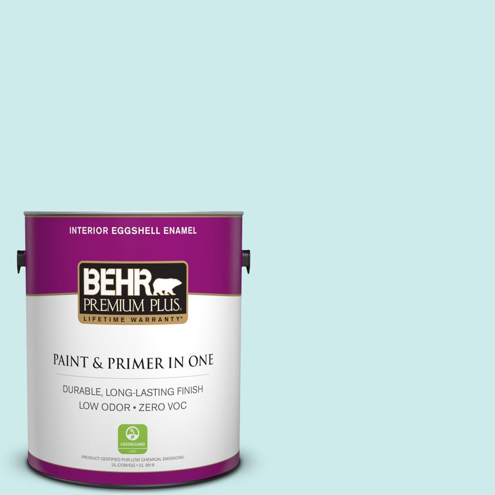 BEHR Premium Plus 1-gal. #500C-3 Spa Zero VOC Eggshell Enamel Interior Paint