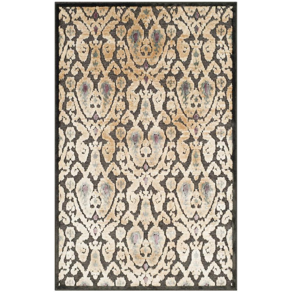 Paradise Charcoal/Multi 2 ft. 7 in. x 4 ft. Area Rug
