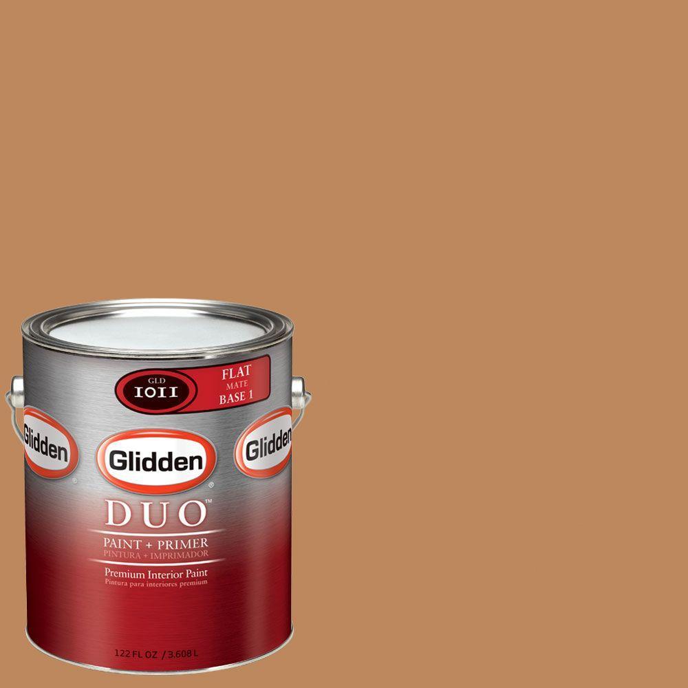 Glidden DUO Martha Stewart Living 1-gal. #MSL050-01F Butterscotch Flat Interior Paint with Primer-DISCONTINUED