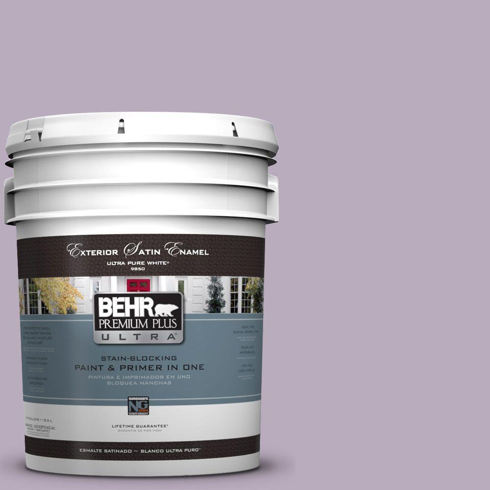 5-gal. #HDC-SP14-12 Exclusive Violet Satin Enamel Exterior Paint