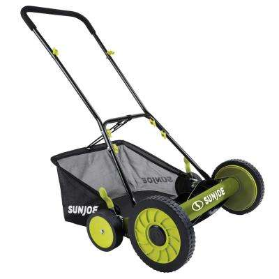 18 in. Manual Walk Behind Reel Mower with Grass Catcher (Factory Refurbished)