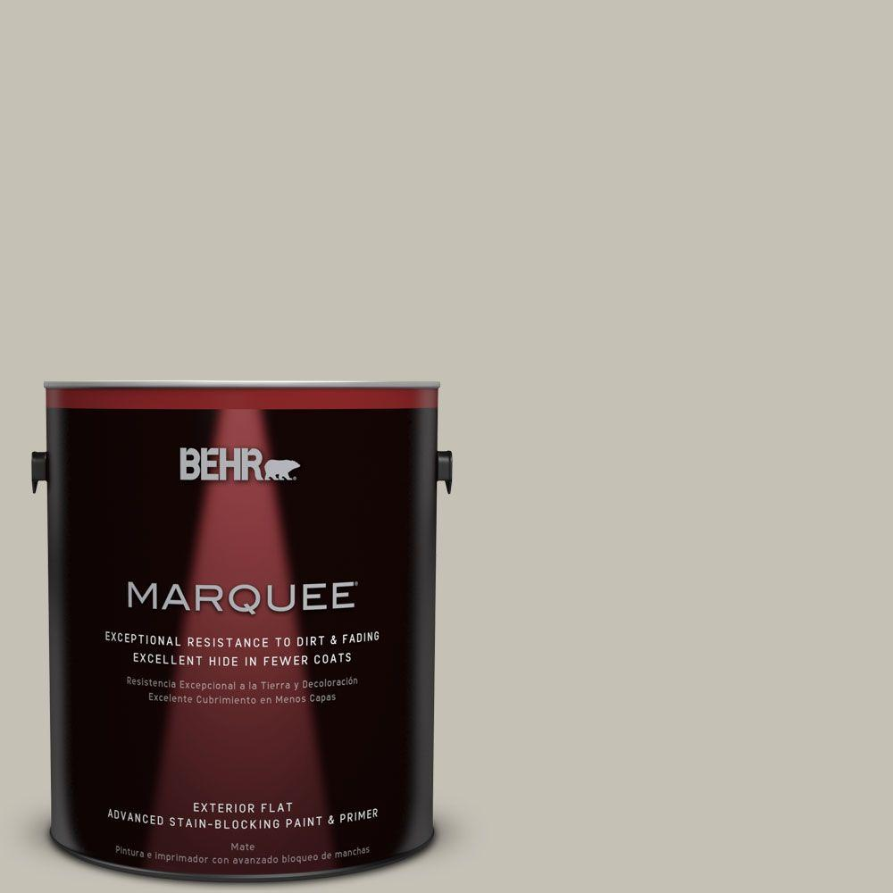 BEHR MARQUEE 1-gal. #BNC-04 Comforting Gray Flat Exterior Paint