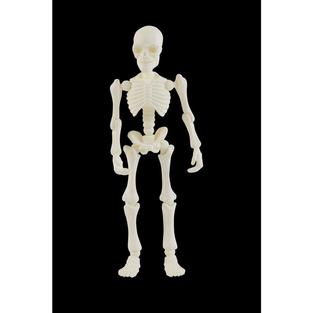 Home Accents Holiday 7 In Mini Skeleton With Poseable Hands And