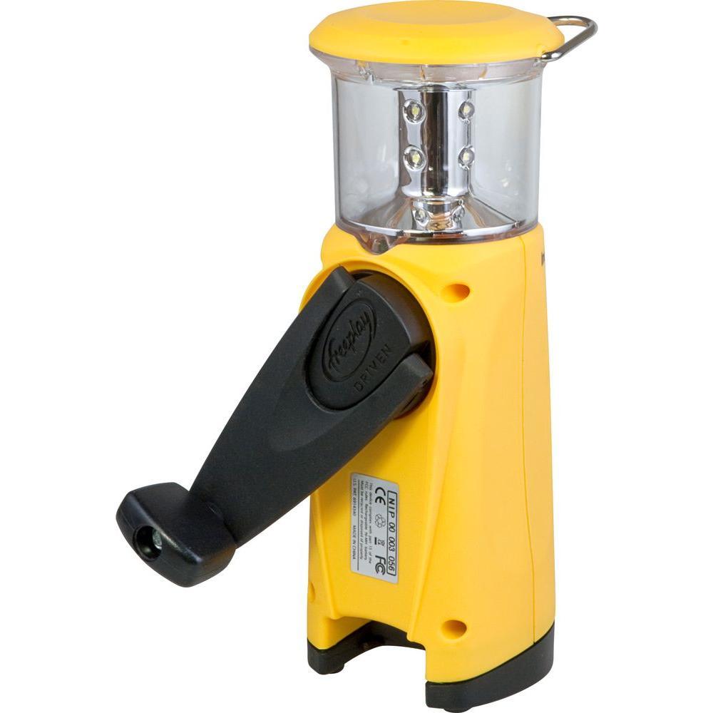 LED Indigo Plus Solar-Powered Yellow Lantern with USB