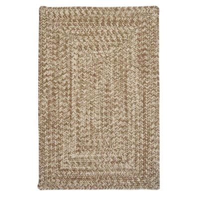 Wesley Moss Green 5 ft. x 8 ft. Rectangle Braided Area Rug