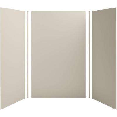 Choreograph 60in. X 42 in. x 96 in. 5-Piece Shower Wall Surround in Sandbar for 96 in. Showers