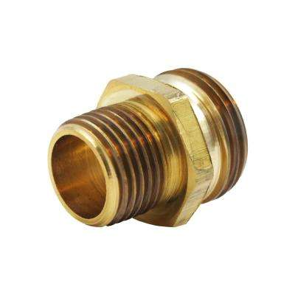 3/4 in. MHT x 1/2 in. MIP Lead-Free Brass Garden Hose Adapter Fitting