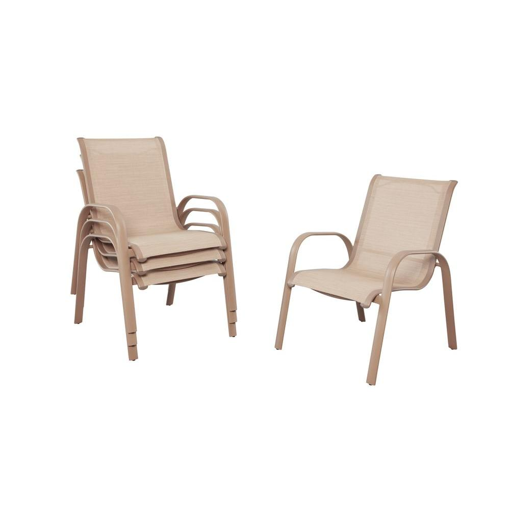 Exceptional Generic/Unbranded Westin Commercial, Contract Grade Sling Patio Dining  Chairs (4 Pack
