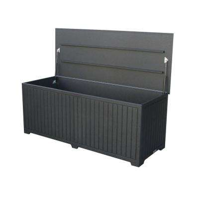 Sydney 110 Gal. Extra Large Black Recycled Plastic Commercial Grade Big Deck Box