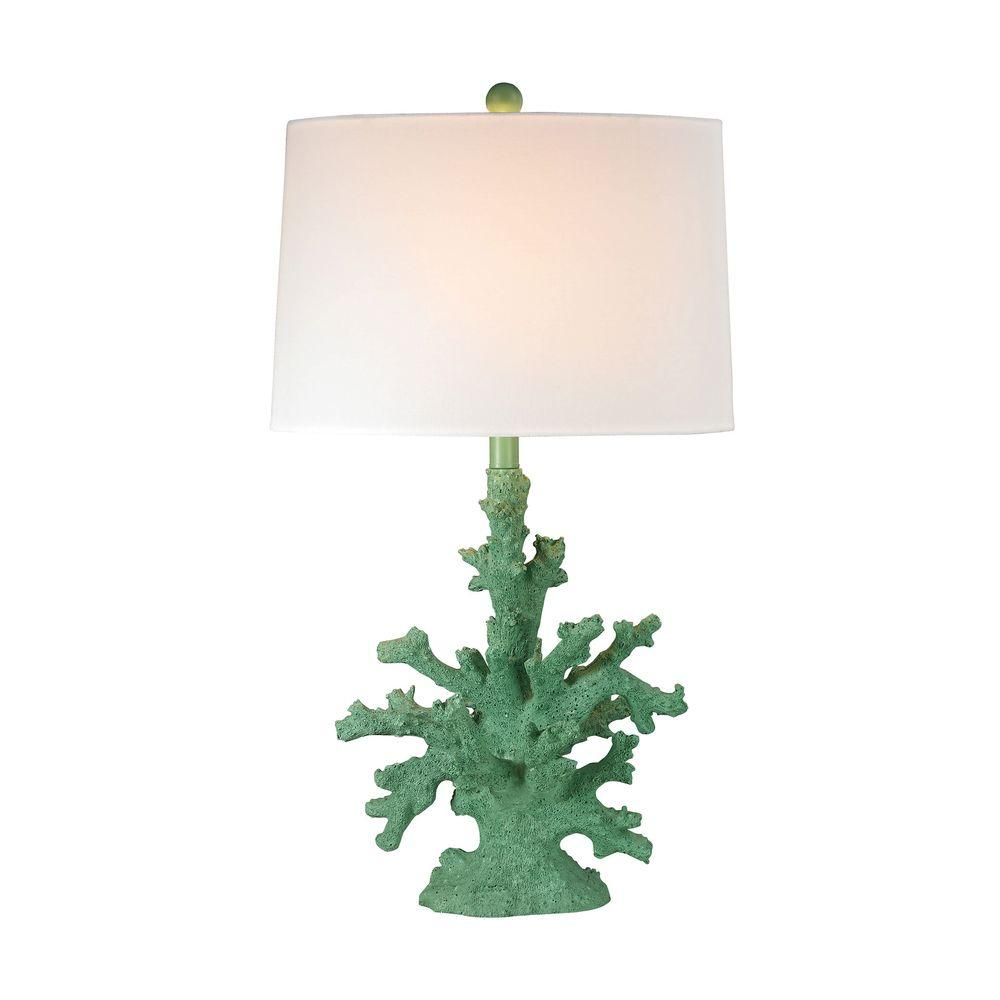 Titan lighting 28 in spearmint coral table lamp tn 998342 the spearmint coral table lamp aloadofball Images