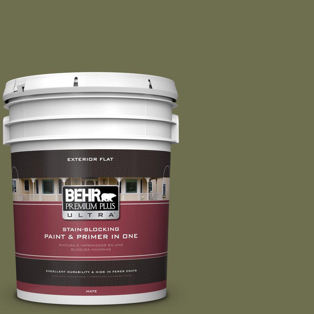 BEHR Premium Plus Ultra 5-gal. #S370-7 Outdoor Oasis Flat Exterior Paint