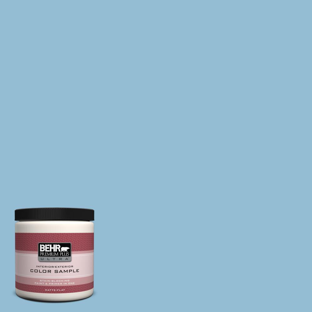 8 oz. #M500-3 Blue Chalk Color Interior/Exterior Paint Sample