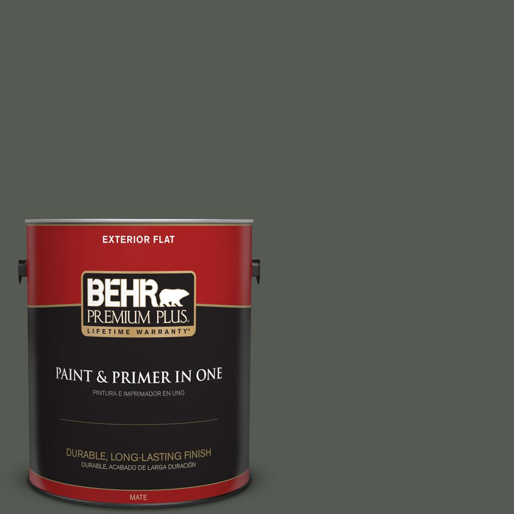 1-gal. #N410-7 North Woods Flat Exterior Paint