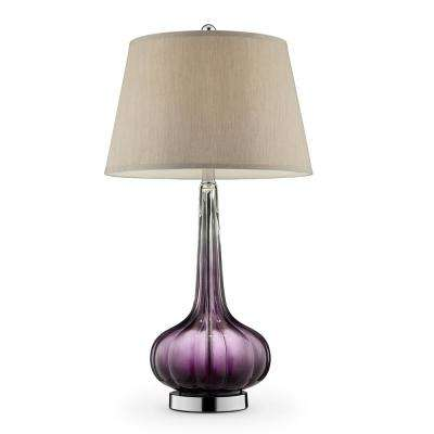 30 in. Mulberry Glass Table Lamp