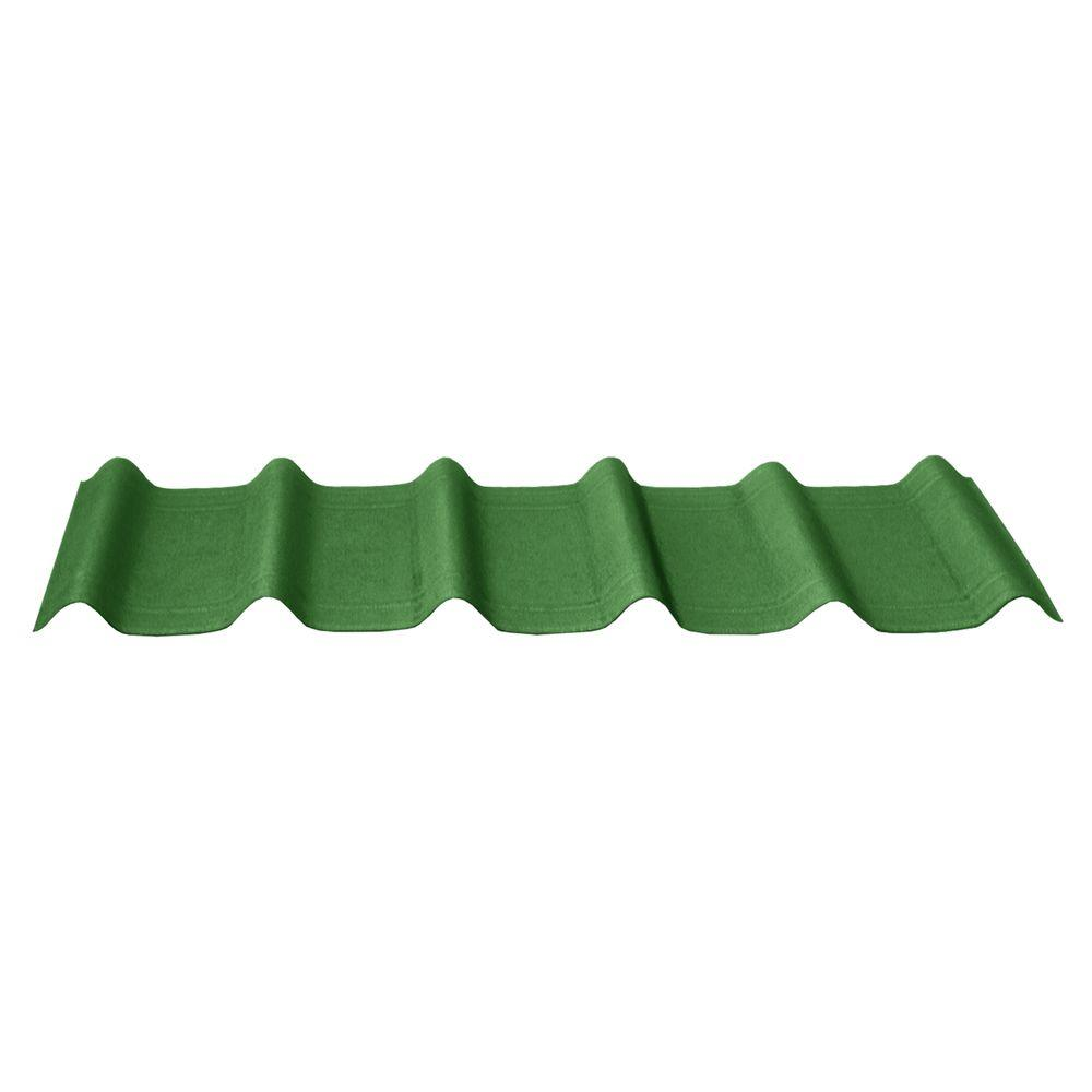 Onduvilla 42 in. x 16 in. x 1.6 in. Forest Green Asphalt Architectural Shingles(33.33 sq.ft.per Bundle) (10 Pieces)
