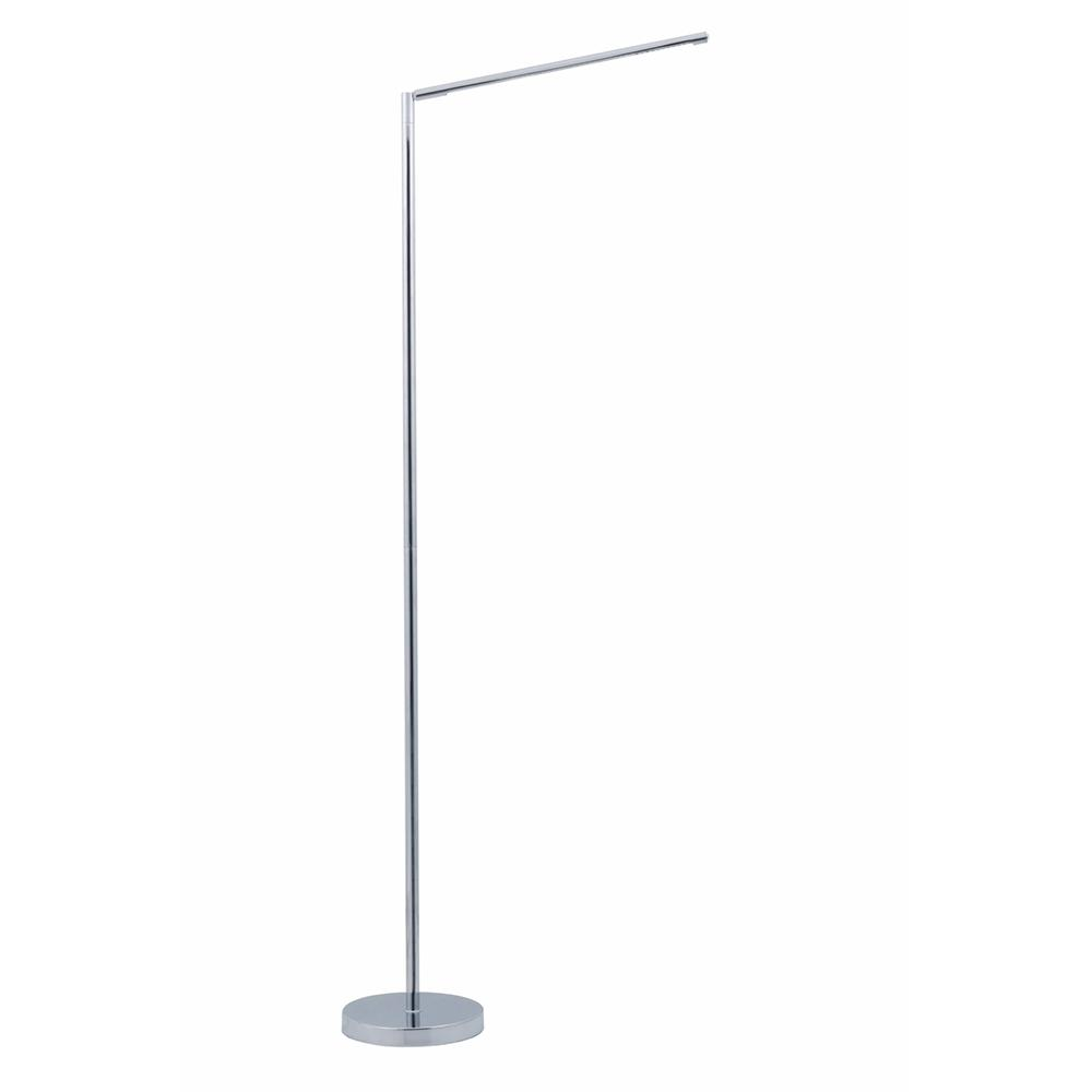 Vision 51 In Polished Chrome Led Floor Lamp With Adjule Stand And Minimalist Design