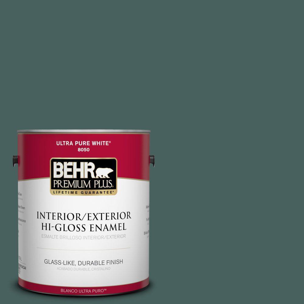 1-gal. #BIC-54 Vert Pierre Hi-Gloss Enamel Interior/Exterior Paint
