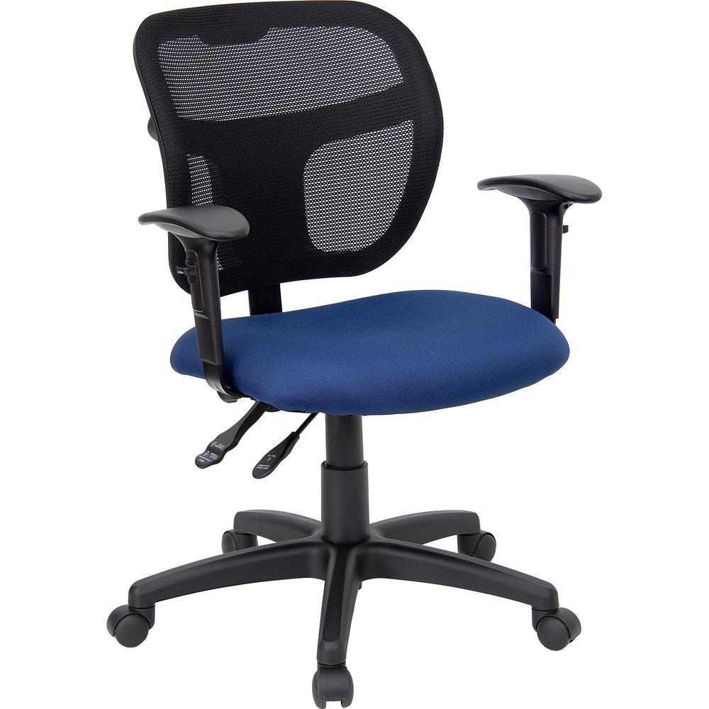 flash furniture mid back mesh swivel task chair with navy blue