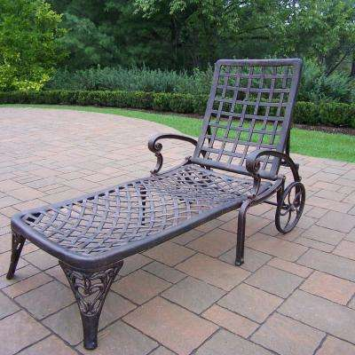 Beautiful Elite Cast Aluminum Outdoor Chaise Lounge With Wheels