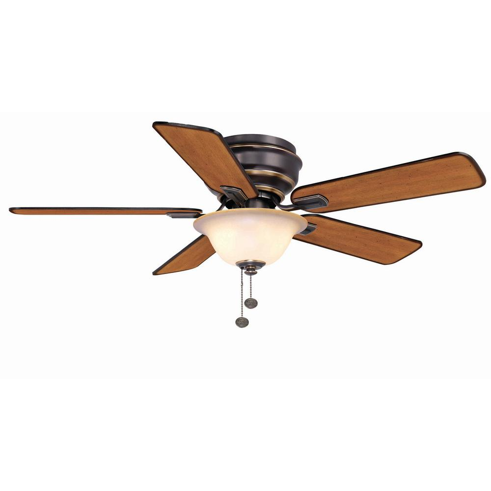 Hampton Bay Hawkins 44 In. Tarnished Bronze Ceiling Fan