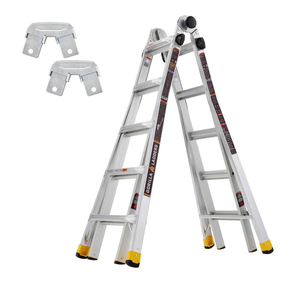 Gorilla Ladders 22 ft. Reach MPXA Multi-Position/Rail Bracket Kit (Combo-Pack)