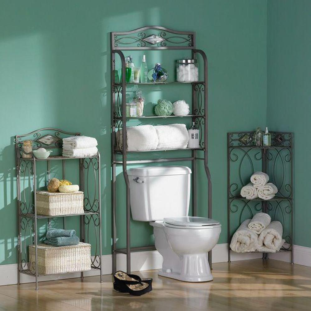 Reflections 3-Shelf Storage Rack in Matte Pewter