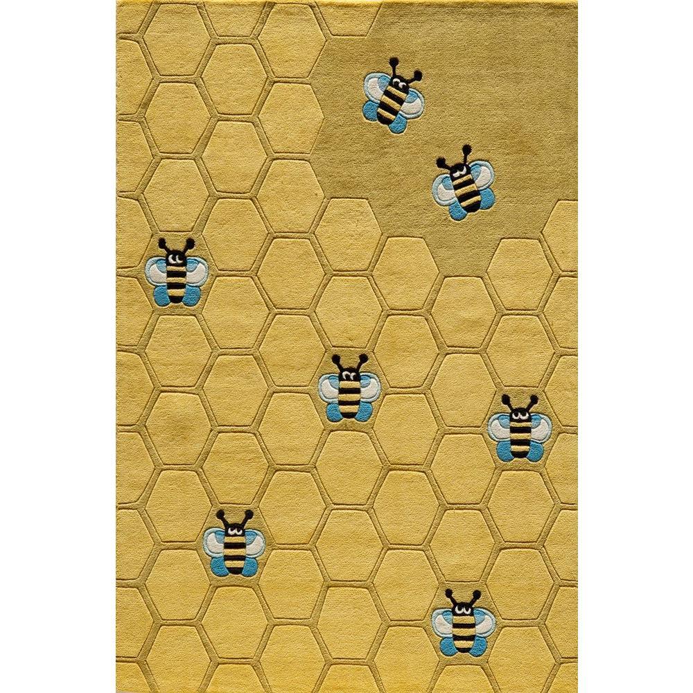 Caprice Honeycomb Gold 4 ft. x 6 ft. Indoor Area Rug
