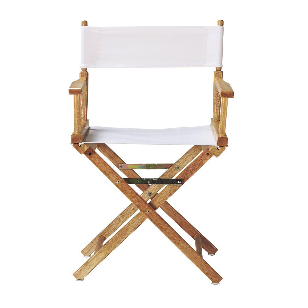 Home Decorators Collection White Director 39 S Chair Cover 0351700410 The Home Depot
