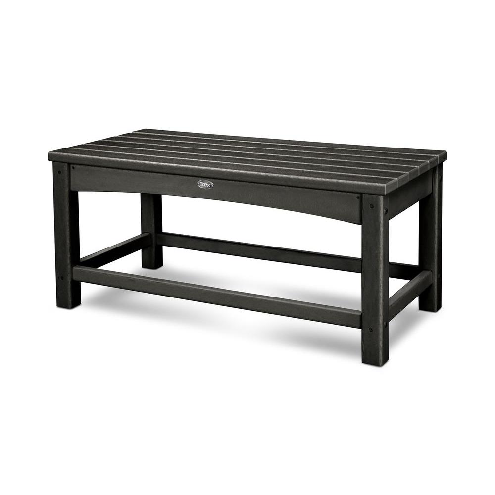 Outdoor Coffee Table: Trex Outdoor Furniture Rockport Club Charcoal Black Patio