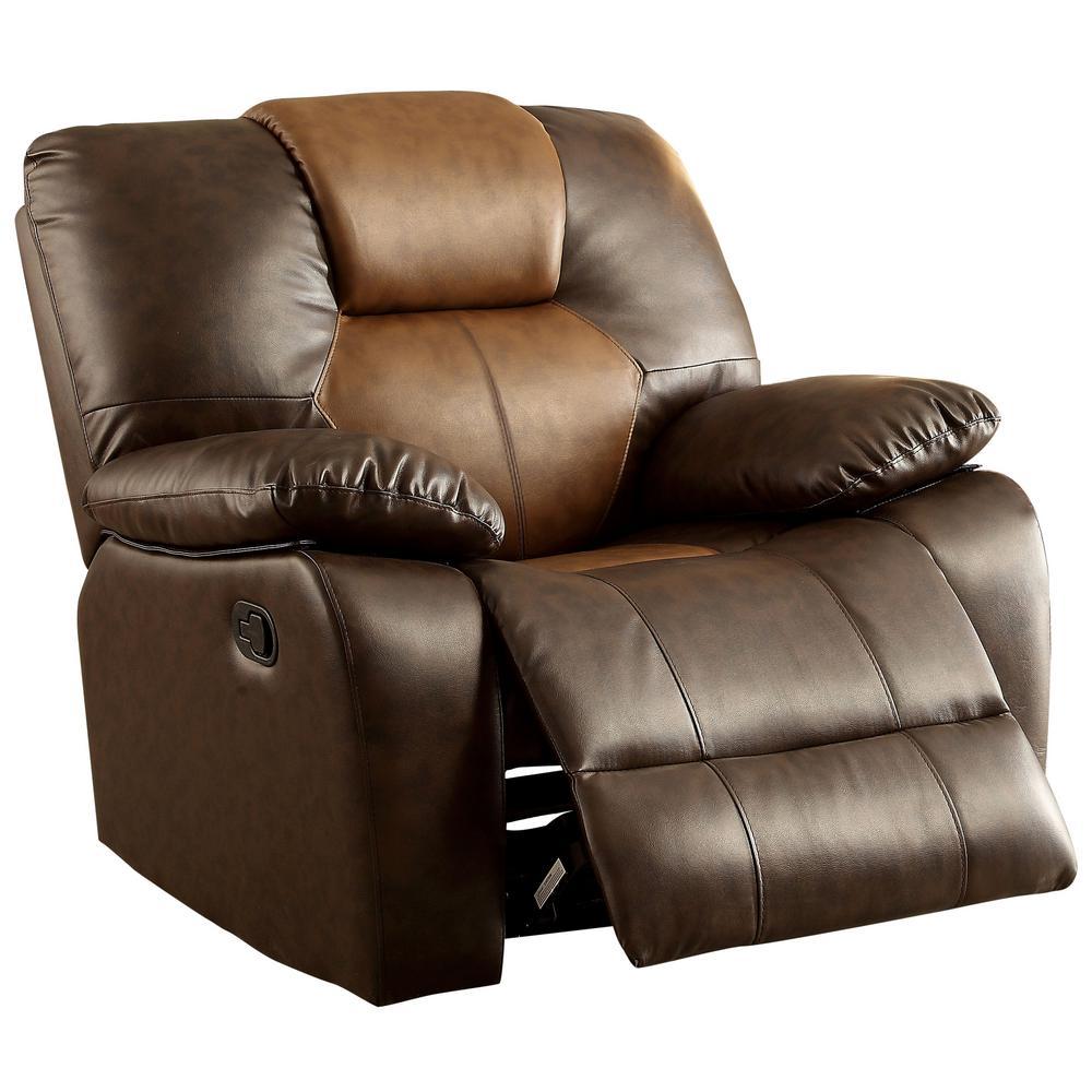 Astonishing Amarri Dark Brown Leatherette Recliner Chair Andrewgaddart Wooden Chair Designs For Living Room Andrewgaddartcom