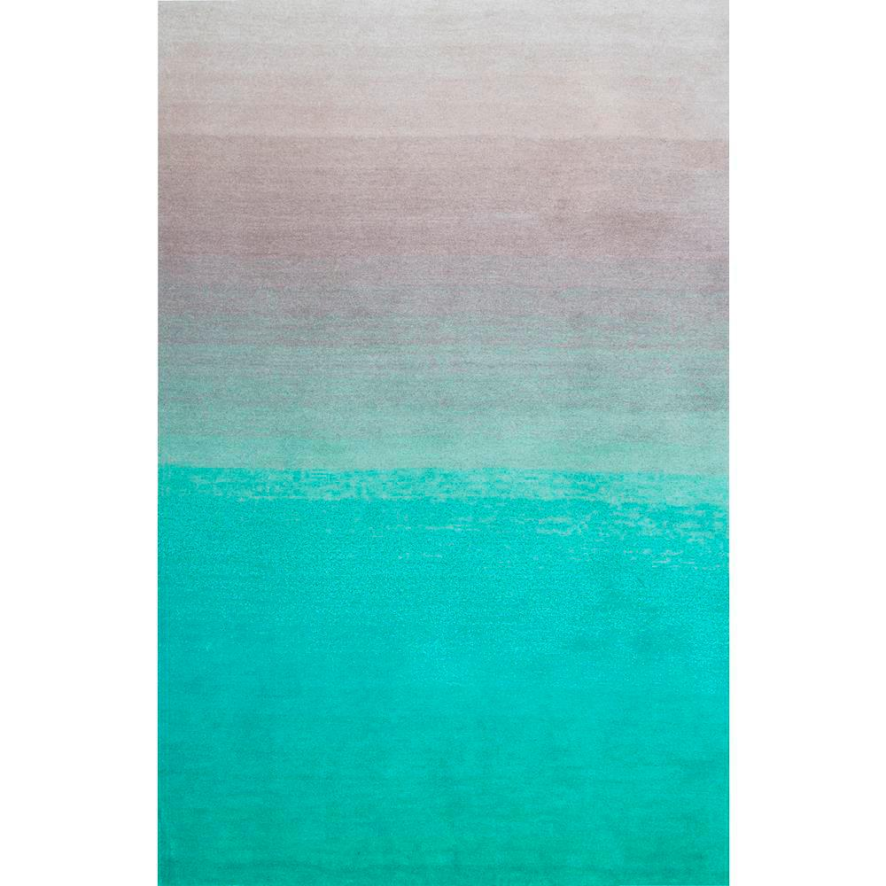 Nuloom Ombre Shag Turquoise 5 Ft X 8 Ft Area Rug Hjos02a