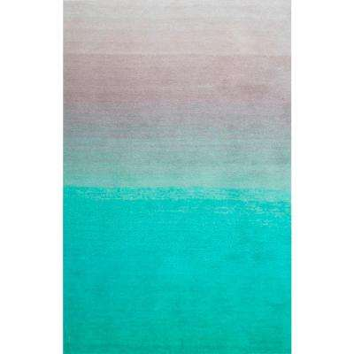 gradient turquoise area rugs rugs the home depot