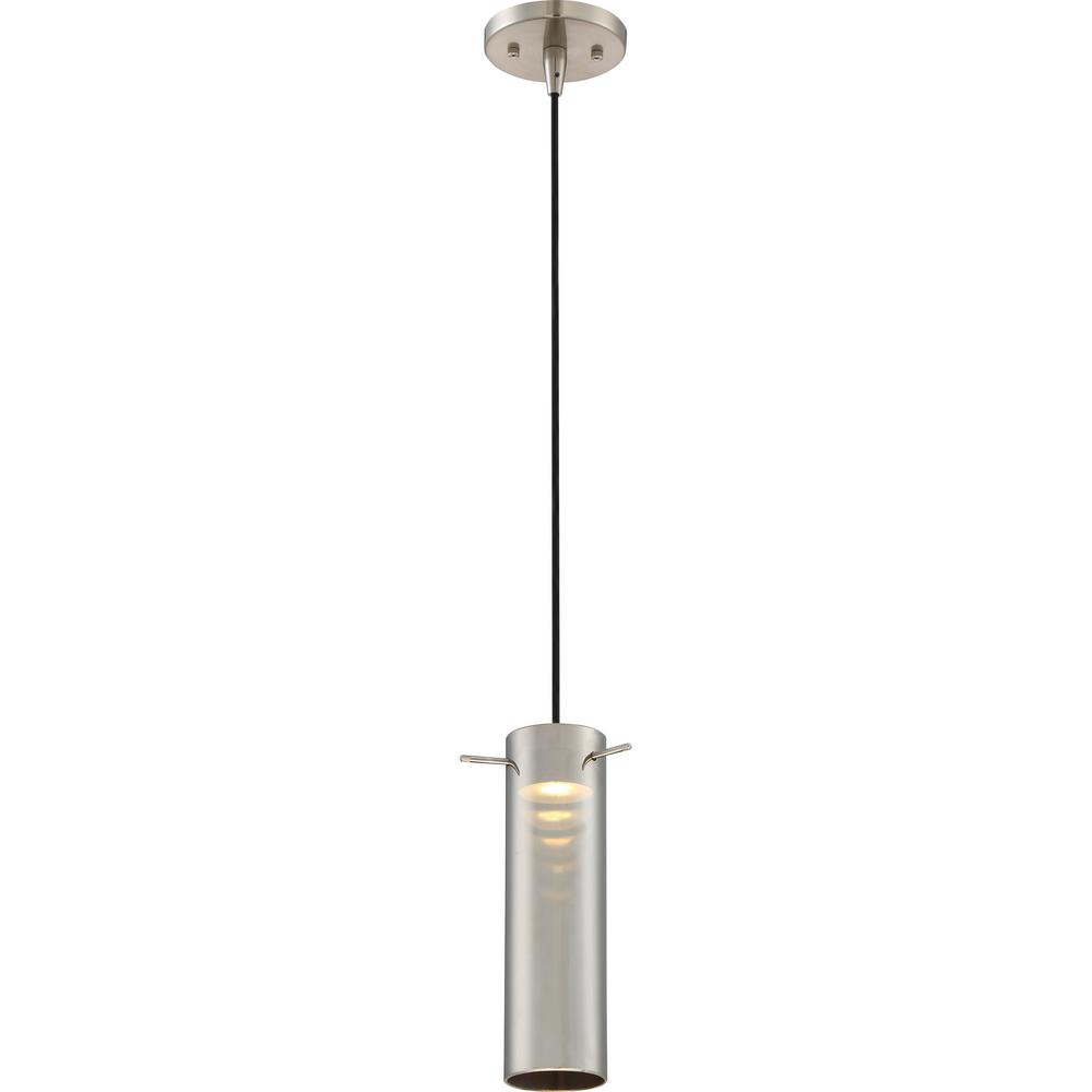 Home Decorators Collection Boswell Quarter Collection 1 Light Brushed Nickel Mini Pendant With