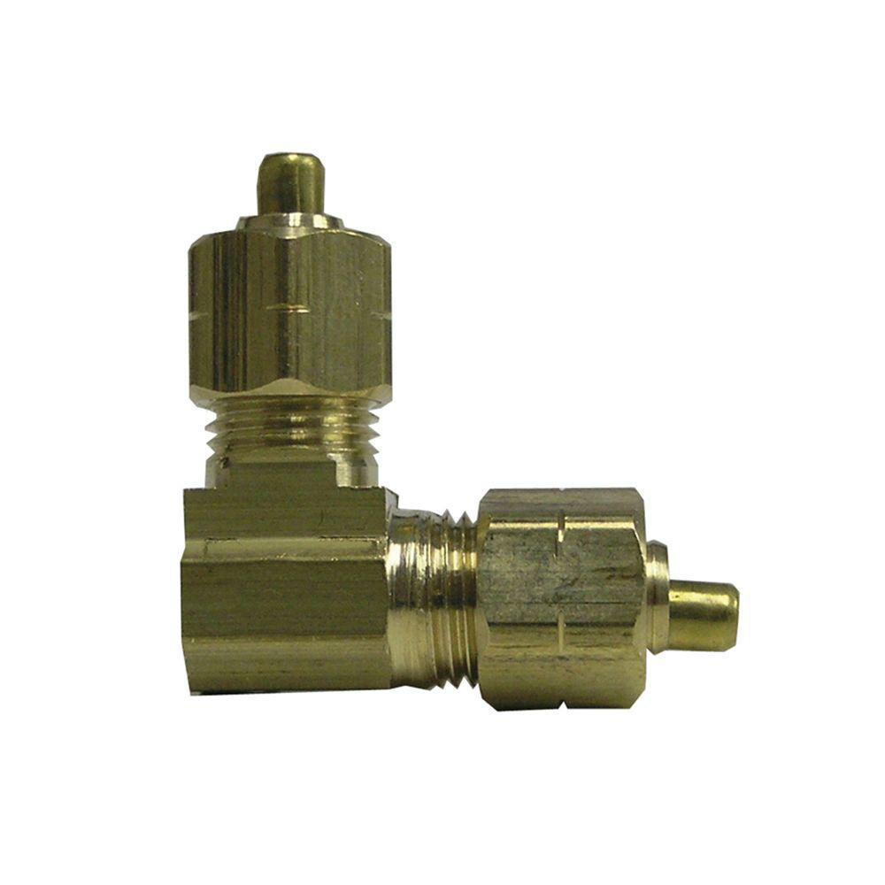Everbilt 3/8 in. Lead-Free Brass Compression 90-Degree Elbow