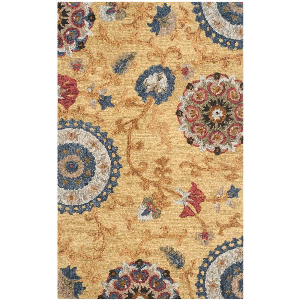 Blossom Gold/Multi 5 ft. x 8 ft. Area Rug