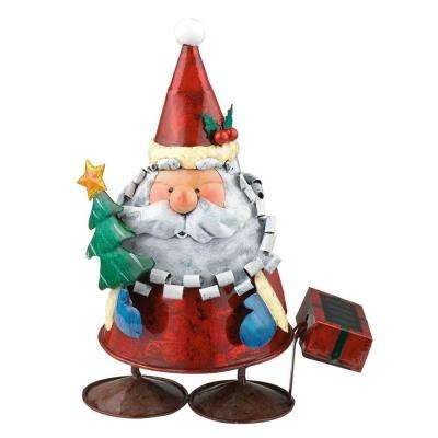 Solar LED Multi-Color Outdoor Santa Claus Light