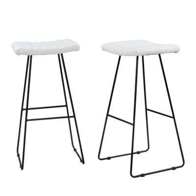 Enzo 30 in. White Bar Stool (Set of 2)