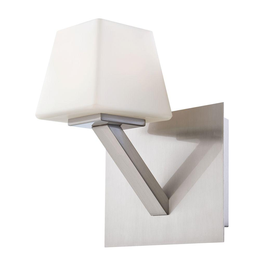 Anglo Collection 1-Light Satin Nickel Wall Sconce