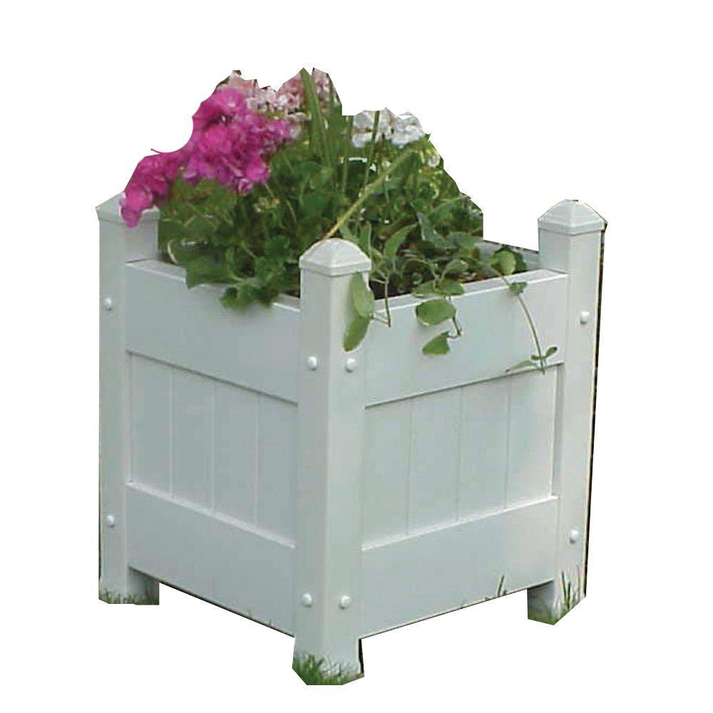 DuraTrel 16 in. Plastic Square Planter Box-DISCONTINUED