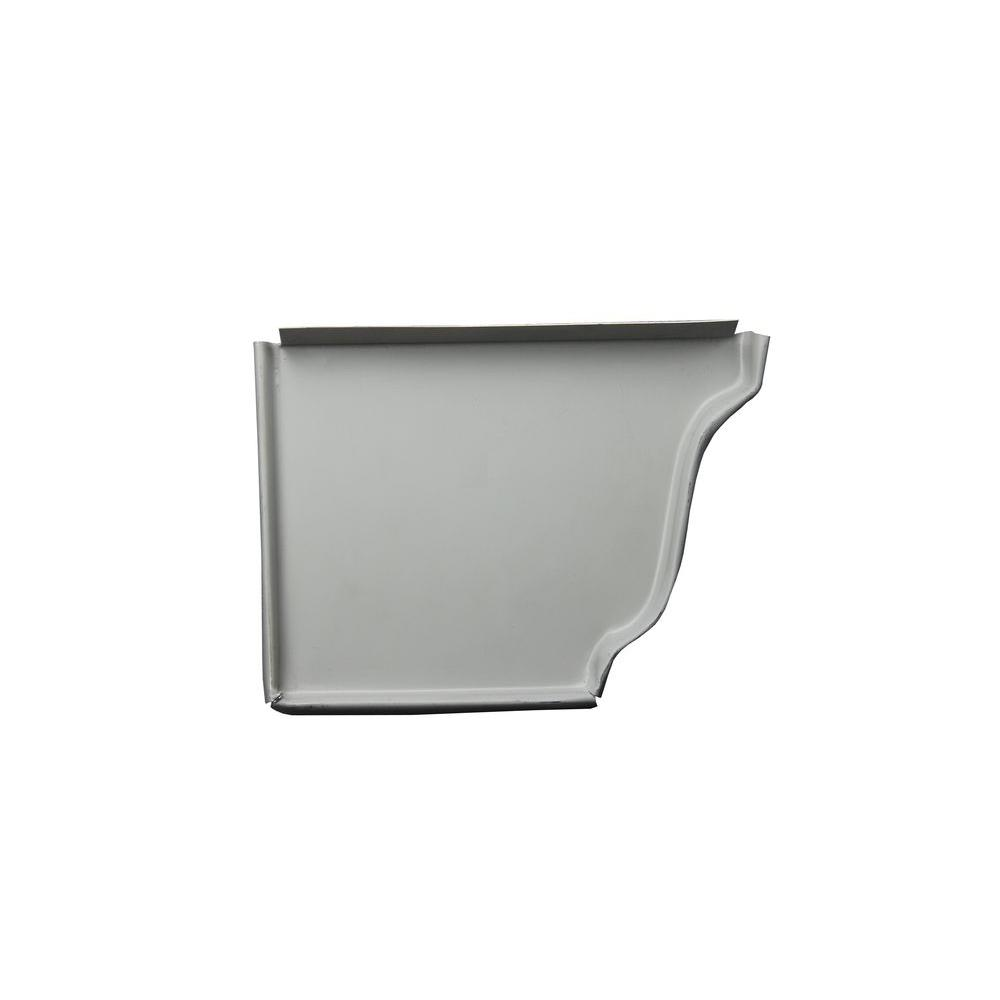 5 in. Colonial Gray Aluminum Left End Cap
