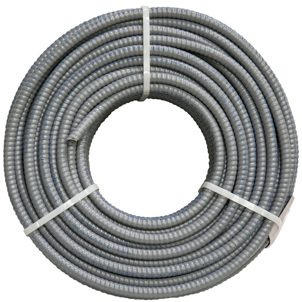 Southwire 12/3 x 250 ft. Solid CU MC (Metal Clad) Armorlite Cable ...