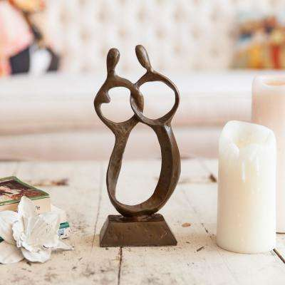 Abstract Couple Cast Bronze Sculpture