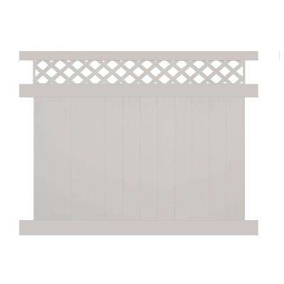 Ashton 5 ft. H x 8 ft. W Tan Vinyl Privacy Fence Panel Kit