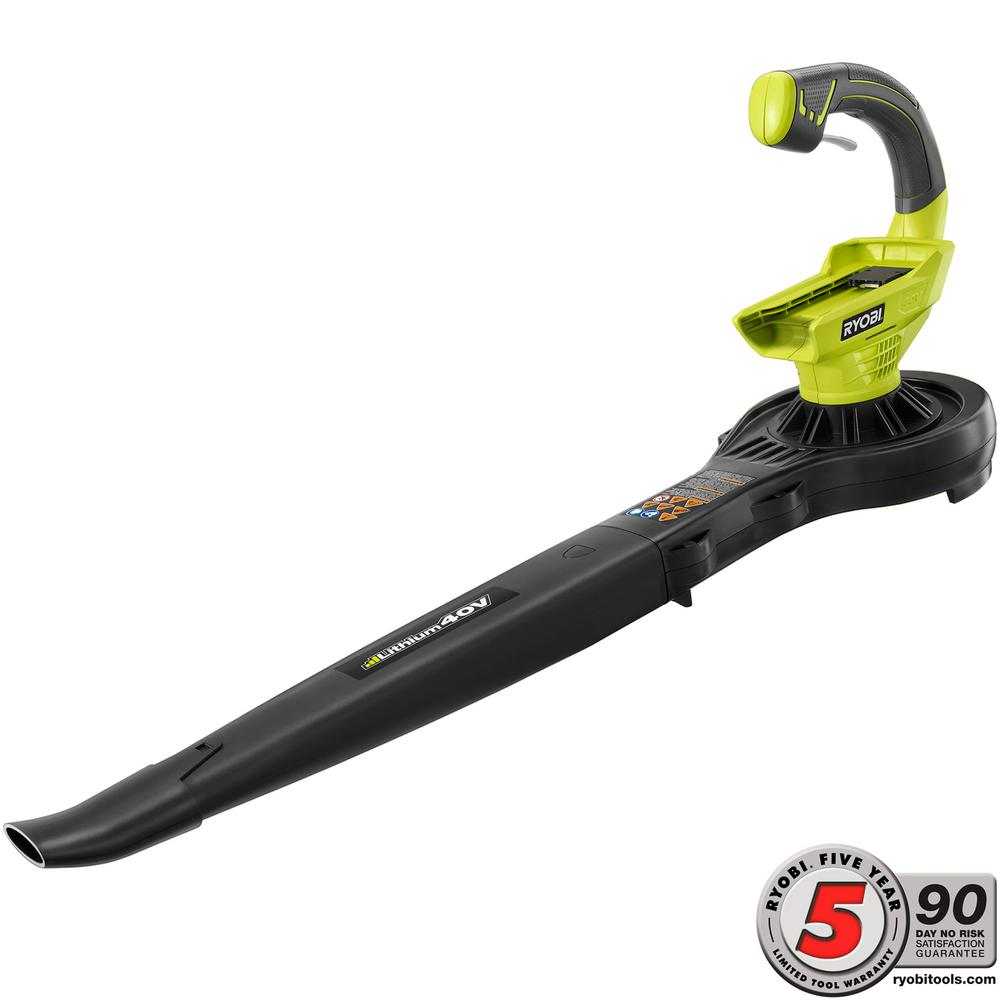 Ryobi 150 MPH 150 CFM 40-Volt Lithium-Ion Cordless Leaf Blower/Sweeper - Battery and Charger Not Included