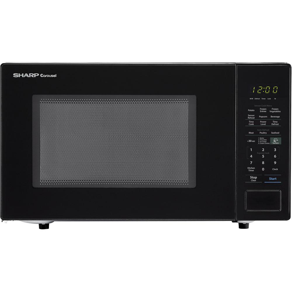 Sharp Carousel 1.4 cu. ft. 1000W Countertop Microwave Oven in Black (ISTA 6 Packaging)