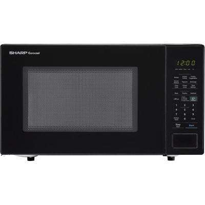 Carousel 1.4 cu. ft. 1000W Countertop Microwave Oven in Black (ISTA 6 Packaging)